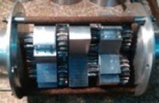 Планетарный редуктор внешнего зацепления (со снятым корпусом)