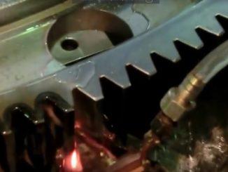 Закалка зубьев колеса большого диаметра