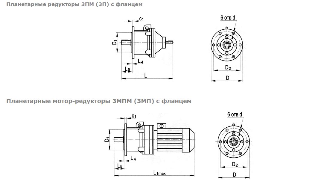 planetarnye s flantsem - Редукторы планетарные ЗМП
